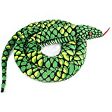 Lazada Giant Boa Constrictor - Lifelike Stuffed Animal Snake Toys Green Over 5.5 Feet Long