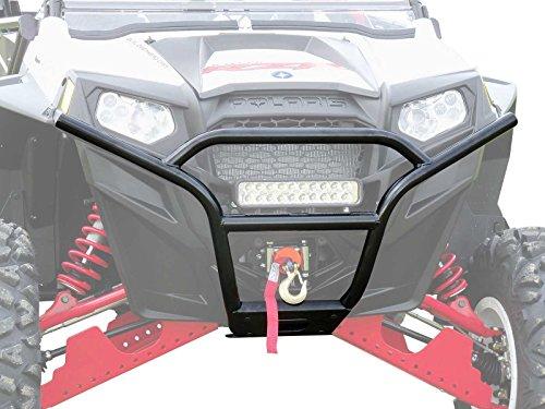 SuperATV Heavy Duty Sport Front Bumper for Polaris RZR 800/800 XC / 800 S / 800 4/900 XP / 900 XP 4/570 - Wrinkle ()