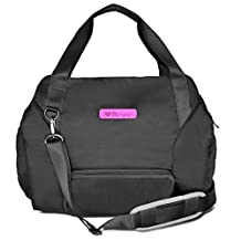 Fitmark Transporter Tote with Removable Meal Prep Insulated Bag with BPA Free Portion Control Meal Containers, Reusable Ice Packs, Black