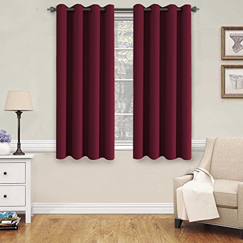 H.Versailtex Blackout Thermal Insulated Curtains for Bedroom /Living Room, 52