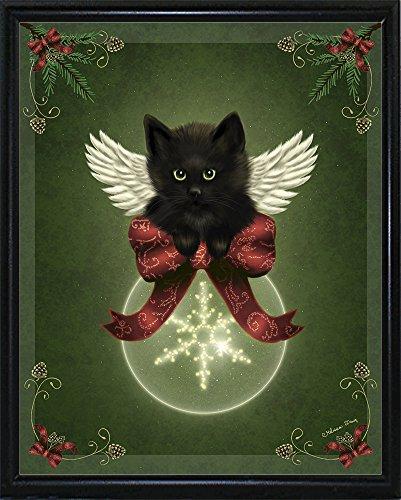 Merry Little Christmas Cat Framed Print