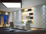 3D Wall Panels,Paintable Plant Fiber design for Interior Modern Wall Decor, Home Living Room Patio Bedroom Wallpapers,12PC