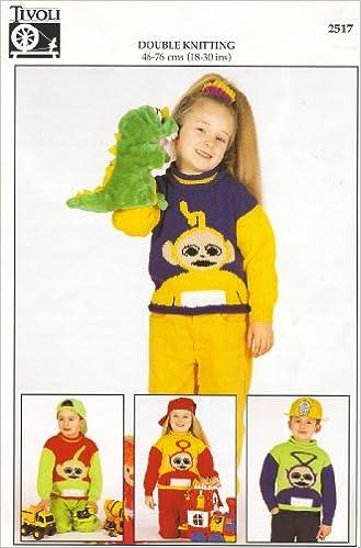 Trivoli Childrens Teletubbies Motif Sweaters 4 Knitting Pattern