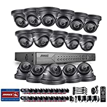 ANNKE 24-Channel HD-AHD 1080N DVR Video Recorder and (16) 1.0MP 1280720p Outdoor Night Vision Dome Camera Security Camera Saytem-NO HDD