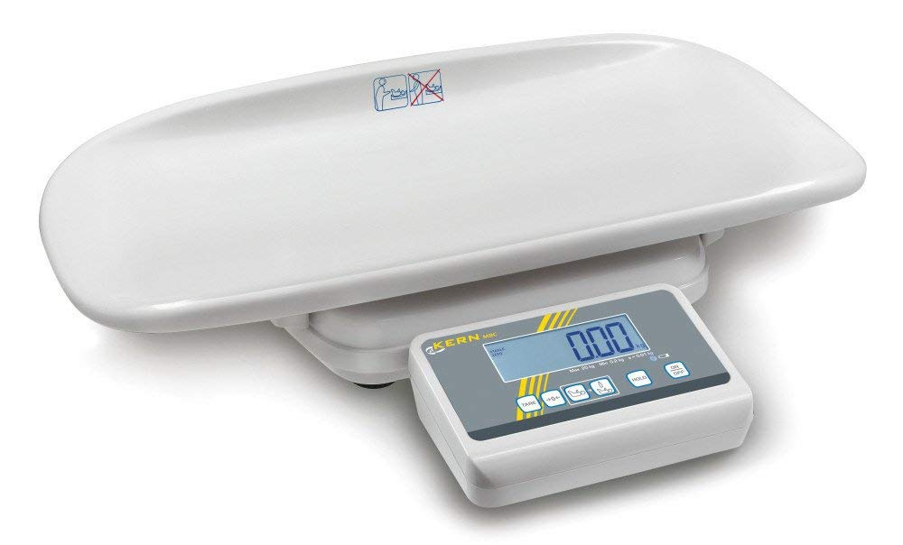 Forma Bonita Báscula con escaneado de y medicina Autorización [Kern MBC 20 K10 M] para uso profesional en la medizinschen Diagnóstico, rango de pesaje ...
