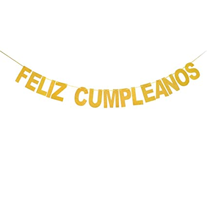 Feliz Cumpleaños Banner -Happy Birthday Hanging Bunting,Fiesta Theme,Feliz Cumpleaños Mexican Party Decorations