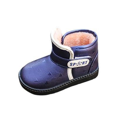 Enfants automne hiver chaud Mode enfants Martin filles occasionnels bottes de neige Noir xmSfg