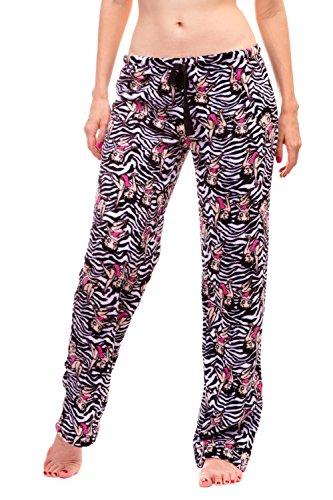 arm and Cozy Plush Pajama Bottoms (Medium, Zebra) ()