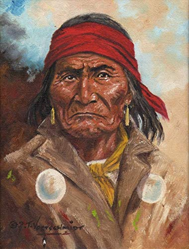 11 x 14 Inch Puzzle Apache Legend Geronimo Native American Indian Warrior