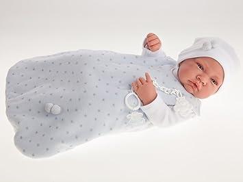 Amazon.es: Muñeco recién nacido con saquito paseo niño 42cm ...