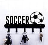 Soccer with Ball Key Holder / Rack / Hook for Wall
