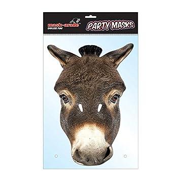 Impersonation//Fancy Dress Donkey Animal Face Card Mask Mask-arade