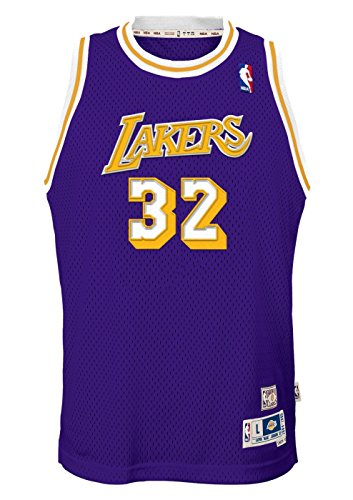 Outerstuff Magic Johnson Los Angeles Lakers NBA Youth Throwback 1984-85 Swingman - Magic Nba Johnson
