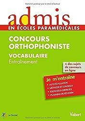 Concours Orthophoniste - Vocabulaire