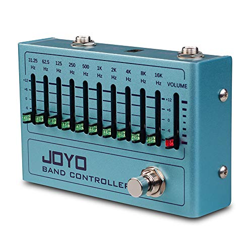 JOYO R-12 Band Controller Equalizer 10 Band EQ Pedal for Guitar and Bass, Guitar Effect Pedal, 31.25Hz to16kHz, True Bypass