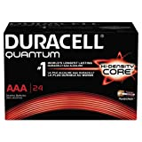 Duracell - Quantum AAA Alkaline Batteries - Long Lasting, All-Purpose Triple A Battery for Household and Business - Pack of 24