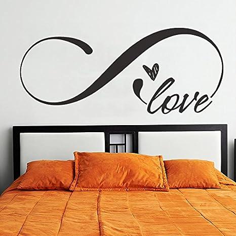 Adesivo da parete in vinile per camera da letto, simbolo amore ...