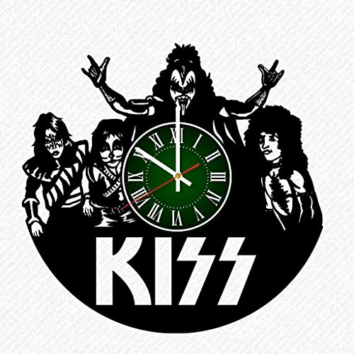 Kiss Band Vinyl Record 12 Inch Wall Clock Room Wall Decor Music Art Gift Modern Home Vintage Decoration Gift Birthday Halloween Christmas Gifts]()