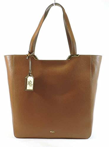 LAUREN Ralph Lauren Arlington Leather Tote, Lauren Tan