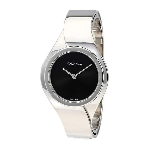 Calvin Klein Reloj Digital para Mujer de Cuarzo con Correa en Acero Inoxidable K5N2M121: Amazon.es: Relojes
