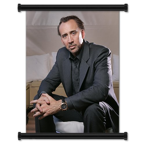 Nicolas Cage Actor Fabric Wall Scroll Poster (16x21) Inches
