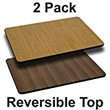 Flash Furniture 2 Pk. 30'' x 42'' Rectangular Table Top with Natural or Walnut Reversible Laminate Top