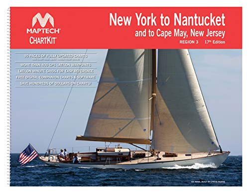 New York to Nantucket and to Cape May New Jersey Maptech ChartKit Region 3 17th - Chart Maptech
