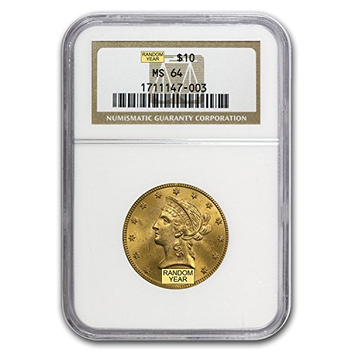1838 – 1907 $10 Liberty Gold Eagle MS-64 NGC G$10 MS-64 NGC