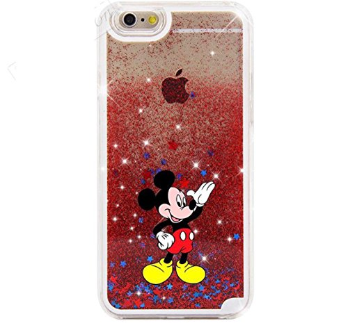Phone Kandy Hard Transparent Shell Glitter Stars Sparkle iPod Touch Case with Cartoon (iPod Touch 5 or 6, Mickey) (Ipod Touch Disney Cases For Girls)