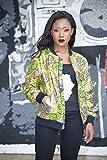 Bomber jacket / African print bomber jacket/ ankara print bomber jacket - Metallic Green