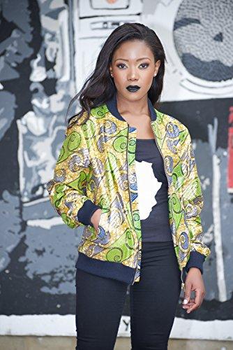 Bomber jacket / African print bomber jacket/ ankara print bomber jacket - Metallic Green by Gitas Portal