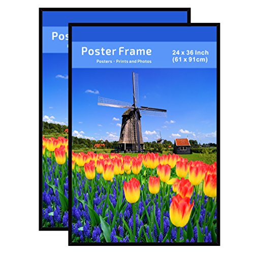coloredge poster frames 24x36 inch 2 pack pre assembled with sturdy mdf