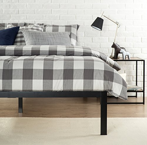 Zinus Mia Modern Studio 14 Inch Platform 1500 Metal Bed Frame / Mattress Foundation / No Box Spring Needed / Wooden Slat Support / Good Design Award Winner / Black, Queen