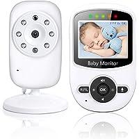 TOPERSUN Monitor Inteligente Monitor de Bebé Vigilabebés con LCD Cámara Visión Nocturna
