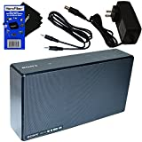 Sony SRS-X55 Powerful Compact 30 Watts Portable Bluetooth & NFC Speaker (International Version) + Charging AC Adapter + Auxiliary Cable + HeroFiber Ultra Gentle Cleaning Cloth