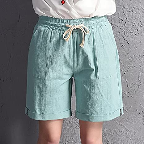 qnqa el nuevo Pantalón Corto Verano los Estrechos cintura Delgado Algodón Ancho Pierna Pantalón De Movimiento 5 ms., 3xl: Amazon.es: Deportes y aire libre