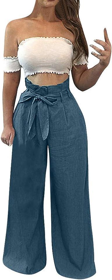 Gusspower Mujer Pantalones De Pierna Ancha Algodon Lino Pantalon Palazzo De Vestir Culottes Pantalones Acampanados Pantalones De Harem Tallas Grandes Moda Pantalon Plisado De Cintura Alta Con Cordon Amazon Es Ropa Y Accesorios