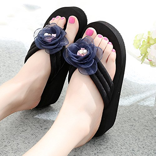 Size shoes HAIZHEN for Female 1001 6 Color Women with Beach slippery sandals 33 shoes summer 1002 High heeled sizes Slippers Women pUFdEqq