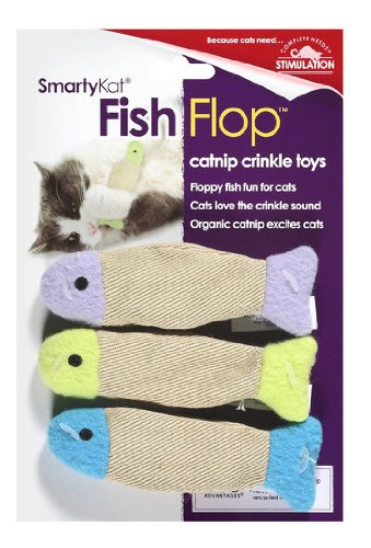 SmartyKat FishFlop 3-Pack Catnip Crinkle Cat Toy, My Pet Supplies