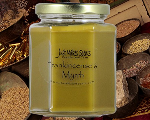 Just Makes Scents Frankincense & Myrrh Scented Blended Soy Candle by (8 oz)