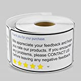 ebay negative - 2 x 4 Inch Rectangle - THANK YOU FOR YOUR PURCHASE Amazon eBay Thank You For Your Purchase FeedbackStickers by Tuco Deals (2 Rolls Per Pack)