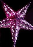 Quasimoon PaperLanternStore.com 24'' Lavender Petal Paper Star Lantern, Hanging Decoration