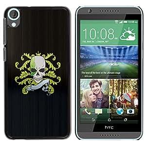 Be-Star Único Patrón Plástico Duro Fundas Cover Cubre Hard Case Cover Para HTC Desire 820 ( Skull Pirate Crest Flag )