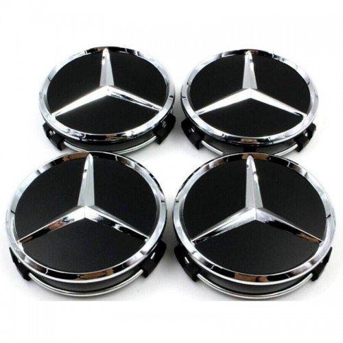 4 x pi/èce de rechange pour Mercedes Benz Couvercle Enjoliveurs Diam/ètre 75 mm