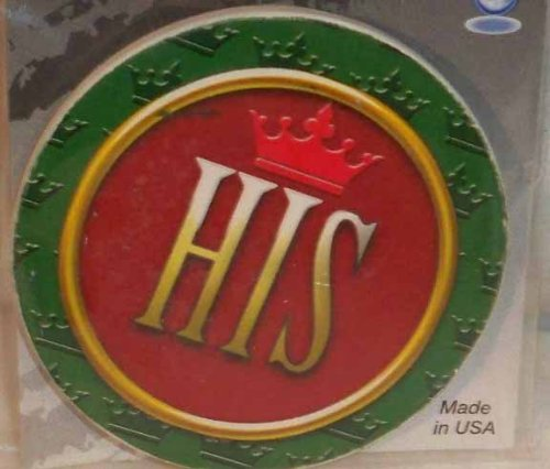 AutoCoaster ~ His~ Tile Drink Coaster for car cupholder ~ code 492