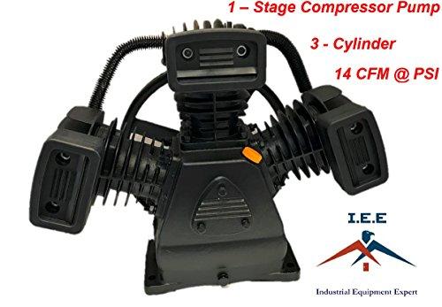 (Air Compressor Pump - 1-Stage, 3-Cylinder, 14 CFM @ 90 PSI)