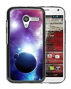 New Beautiful Custom Designed Cover Case For Motorola Moto X With Outer Space Planet Shadow Phone Case