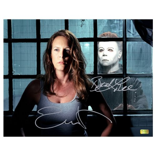 Jamie Lee Curtis and Brad Loree Autographed 11x14 Halloween Resurrection Photo