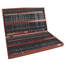 Derwent Studio Colored Pencils, 3.4mm Core, Wooden Box, 72 Count (32199)