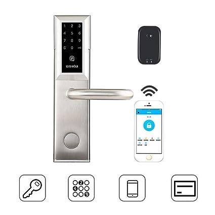 XSWE Cerradura de Puerta sin Llave, teléfono móvil App Remoto WiFi ...